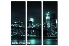 Бруклинский мост. Сумерки (модульная)