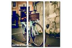 Велосипед у стены (модульная)
