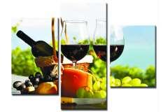 Вино и фрукты (Модульная)