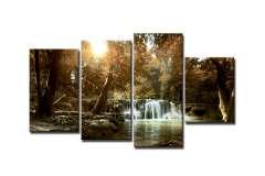 Водопад в лесу (Модульная)