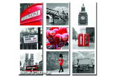 Лондон. Коллаж (модульная)