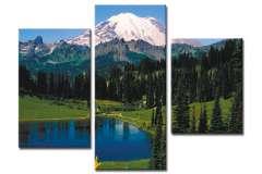 Озеро у горы (модульная)