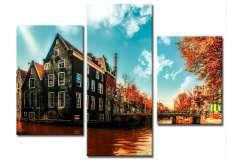Осенний Амстердам (Модульная)