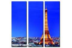 Эйфелева башня. Ночное сияние (модульная)