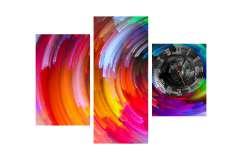 Часы цветная фантазия